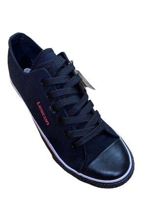 Lescon Unisex Siyah Keten Ayakkabı L-1904