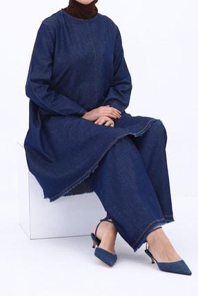 ALLDAY Koyu Mavi Püsküllü Denim Pantolonlu Ikili Takım