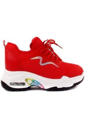 Guja Kadın Kırmızı Ortopedik Sneakers Spor 500