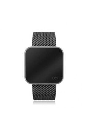 UpWatch Upwatch Touch Slım Steel Sılver Black Unisex Kol Saati