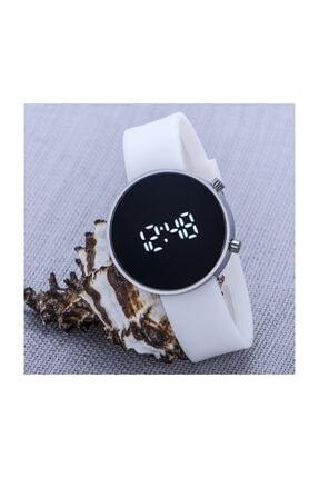 Spectrum Gümüş Renk Kasa Dijital Led Ekran Silikon Kordon Bayan Unisex Kol Saati St-303603