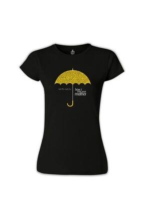 Lord Kadın Siyah How I Met Your Mother Umbrella T-Shirt