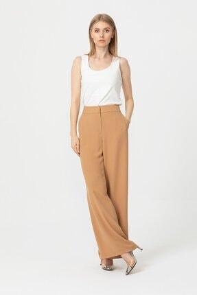 Seçil Kadın Geniş Paça Camel Pantolon 3038