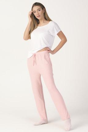 PrettyChic Kadın Cepli Yumoş Kumaş Mevsimlik Tek Pijama Altı