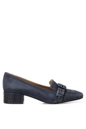 İnci SERGE Lacivert Kadın Hakiki Deri Topuklu Ayakkabı 101026001