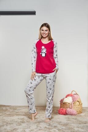 PJS PİJAMA Kadın Yuvarlak Yaka Pijama Takımı 21169