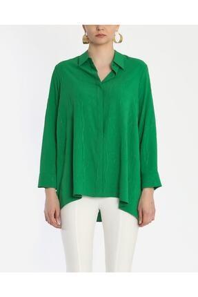 Ayhan Kadın Yeşil Kraşlı Gömlek