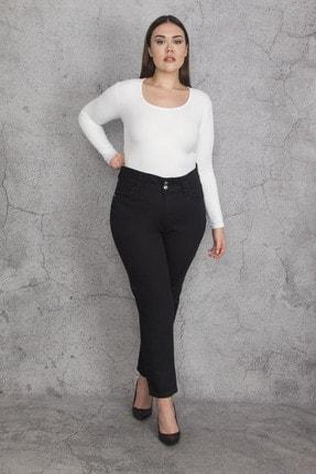 Şans Kadın Siyah 5 Cepli Kot Pantolon 65N22110