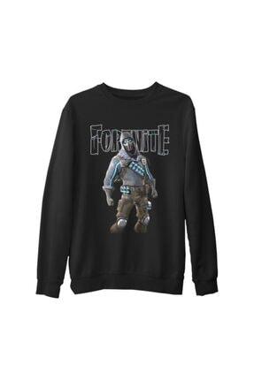 Lord Unisex Siyah Fortnite Vulture Kalın Sweatshirt