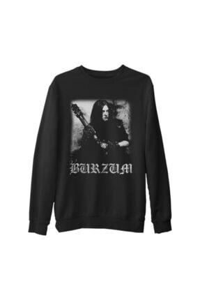 Lord Unisex Siyah Burzum  Anthology Kalın Sweatshirt