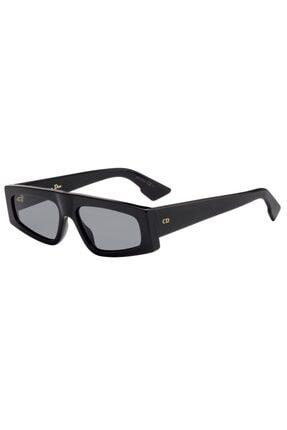 Gucci Kadın Güneş Gözlüğü Siyah Kemik Çerçeveli Geometrik Model Füme Lens Uv400