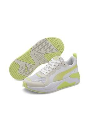Puma Kadın Beyaz  Sarı Detaylı  Spor Ayakkabı