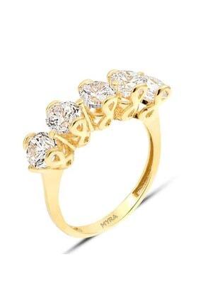 Myra Gold Sonsuzluk Beştaş Altın Yüzük