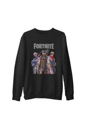 Lord Erkek Siyah Fortnite Weapons Kalın Sweatshirt