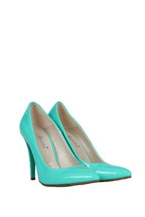 Punto Kadın Turkuaz Topuklu Ayakkabı