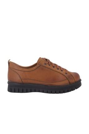 Hobby Taba Deri Günlük Kadın Ayakkabı 3451