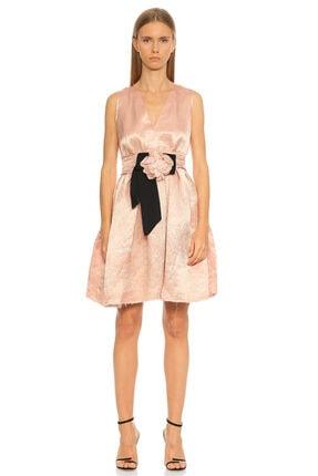 Lanvin Gül Detaylı Pembe Elbise