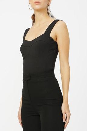 Random Kadın Fermuar Detaylı Askılı Bluz %100 Polyester