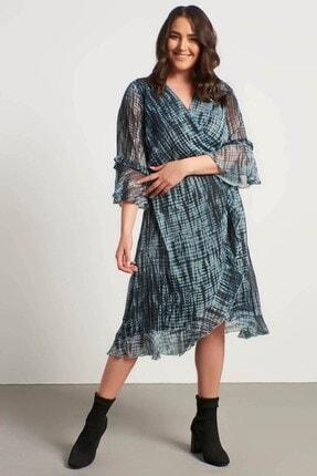 MYLİNE Kadın Volanlı Şifon Astarlı Elbise