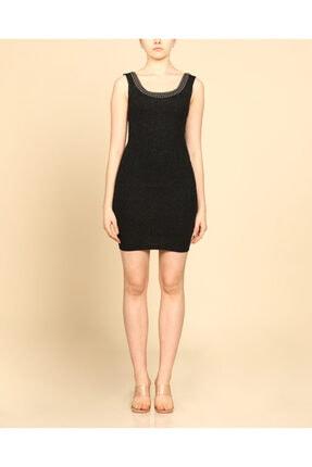 Ayhan Sırt Ve Yaka Işlemeli Dar Kesim Mini Elbise
