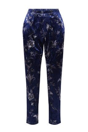 W Collection Kadın Mavi Print Pantolon