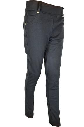 ESTİVA Kadın Siyah Beli Lastikli Büyük Beden Pantolon