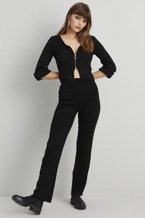 Cool & Sexy Kadın Siyah Pantolonlu Triko Takım KZ451