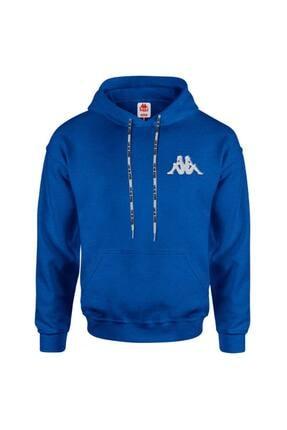 Kappa Unisex Mavi Kapüşonlu Sw-shirt Baong