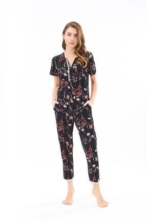 PJS PİJAMA 22179 Kadın Desenli Pijama Takım