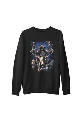 Lord Erkek Siyah Kalın Sweatshirt