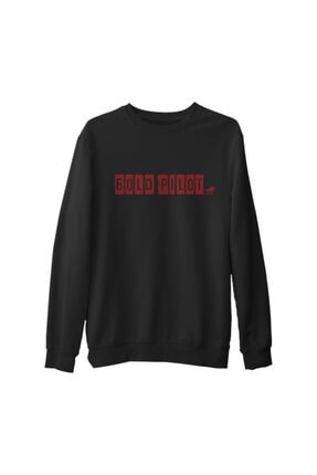 Lord Erkek Siyah Bold Pilot Kalın Sweatshirt