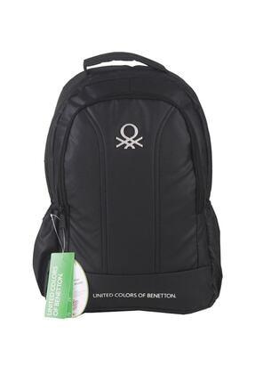Benetton Unisex Siyah Okul Sırt Çantası