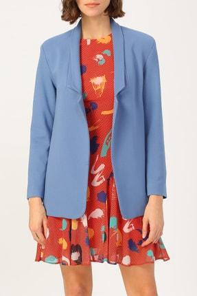 Random Kadın Klasik Kesim Ceket %72 Vıscon %25 Polyester %3 Elastan
