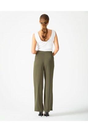 Seçil Kadın Haki Bol Paça Pantolon