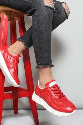 Fast Step Hakiki Deri Kırmızı Kadın Sneaker Ayakkabı 009za977