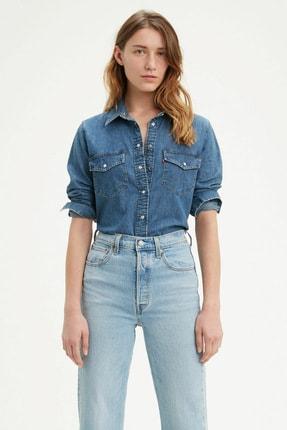 Levi's Kadın Mavi Essential Jean Gömlek
