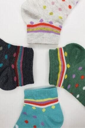 Eflatun 8 Adet Karışık Çok Renkli Baskılı Patik Çorap 35-39