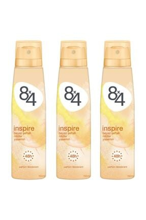 8x4 Inspire Kadın Deodorant Sprey 150 Ml 3 Adet