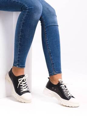 Kadın Deri Siyah Spor Ayakkabı EFE2021522-1