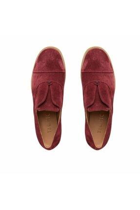 Kadın Bordo Süet Ayakkabı 6YKAY4096X
