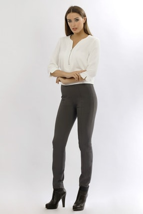 Naramaxx Kadın Gri Dar Paça Gri Pantolon 16K11113Y266018-Gri