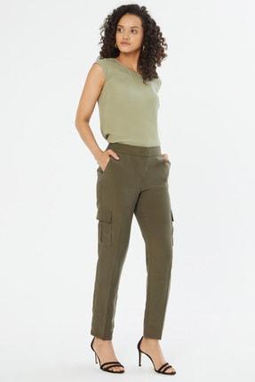 Naramaxx Kadın Haki Bel Bağlamalı Pantolon 18Y11113Y480099-Hakı