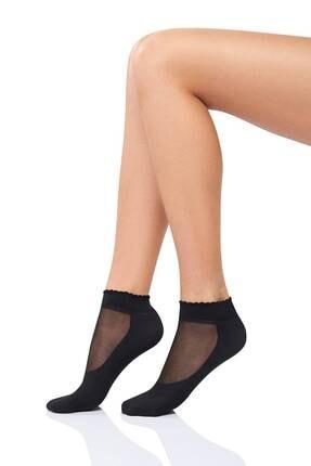 Mite Love Tabanlı Siyah Soket Çorap