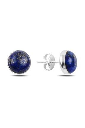 Silverella Gümüş 925 Ayar Lapis Lazuli Taşlı Tektaş Küpe
