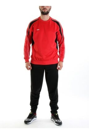 Sportive Erkek Kırmızı-Siyah Spt Elit Antrenman Eşofman Tk