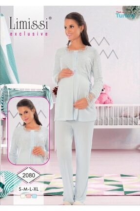 2080 Hamile Lohusa Dantelli Lohusa Pijama Takımı