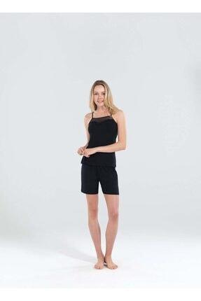 Blackspade Kadın Siyah Şort Pijama Takımı 50165