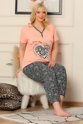 D-Paris Kadın Pembe Kısa Kol Pijama Takımı