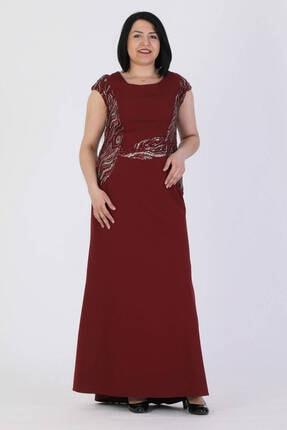 Günay Giyim Kadın Bordo Abiye Elbise 41283200001010
