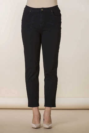 Günay Giyim Kadın Siyah Kanvas Pantolon 04213200002802